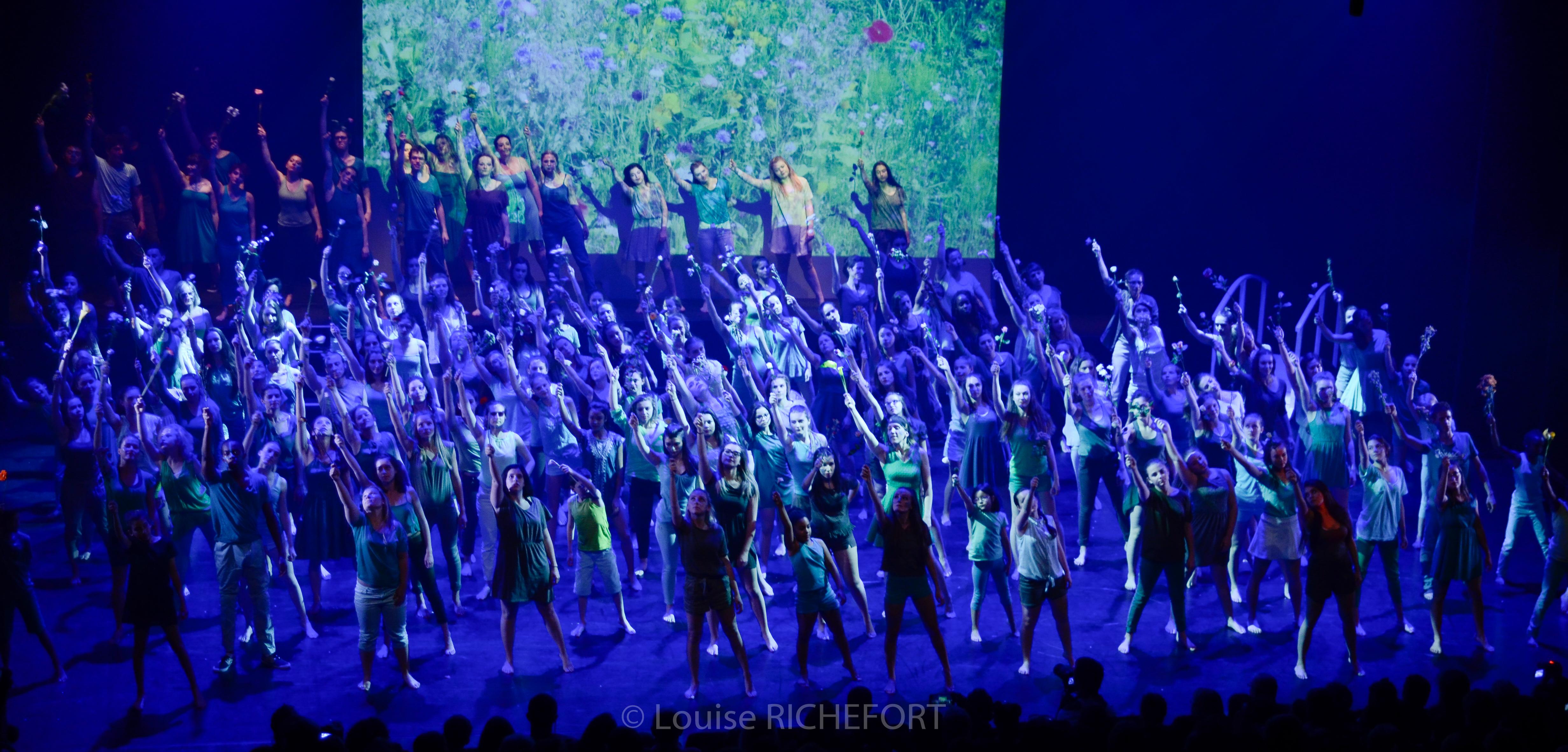 Répétitions sur scène, spectacle 28 et 29 mai 2016