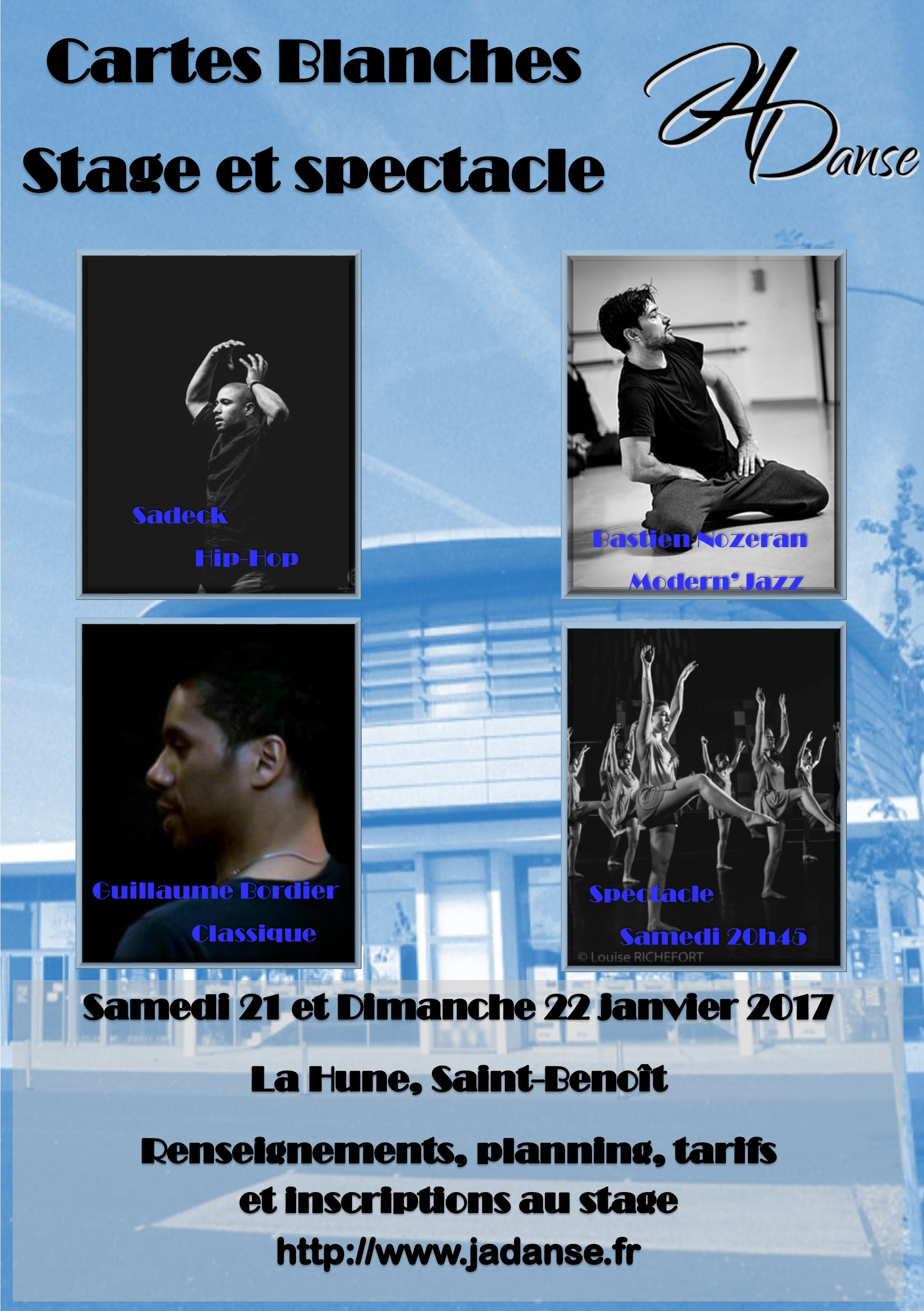Cartes blanches 2017, stage et spectacle