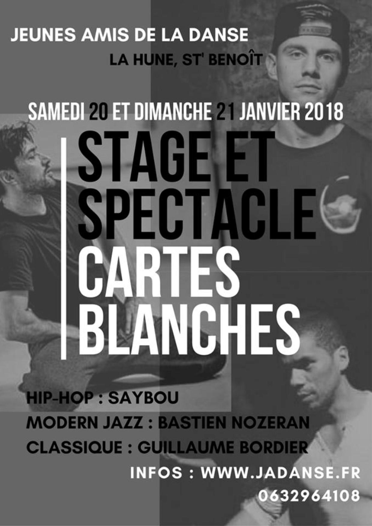 Cartes blanches 2018