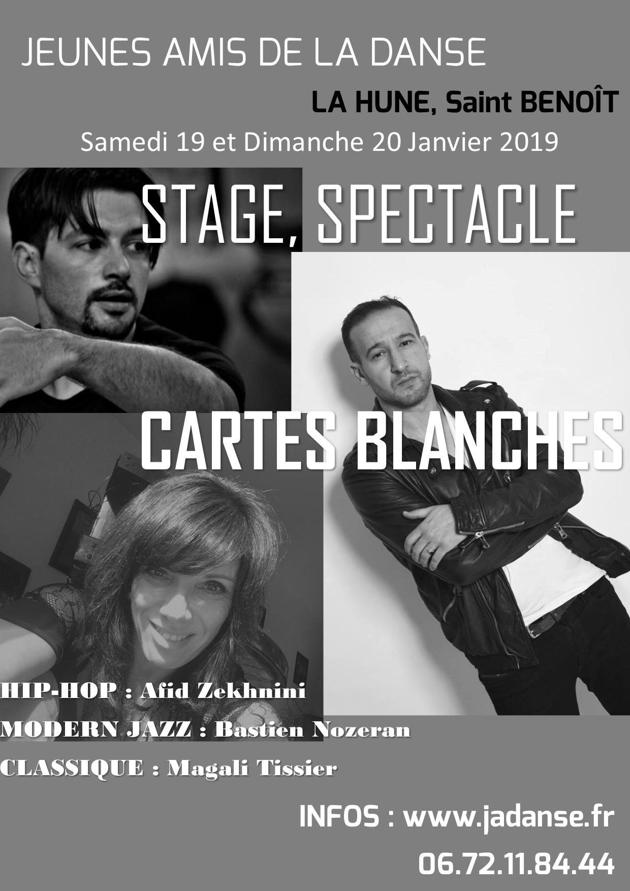 Cartes Blanches 2019